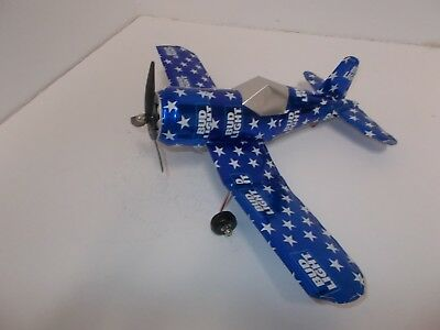 Aluminum beer can handcrafted airplane/BUD LIGHT STARS (CORSAIR)