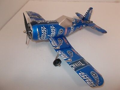 Aluminum beer can handcrafted airplane/BUD LIGHT 2015 TITANS (CORSAIR)