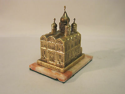 Building. Bronze. Church. Model of the Archangel Cathedral. Moscow Kremlin