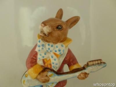 Royal Doulton Bunnykins - Mr Bunnybeat 'Strumming' - DB16 - Golden Jubilee