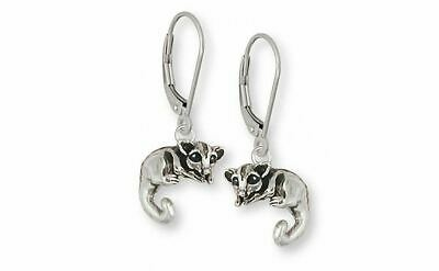 Sugar Glider Jewelry Sterling Silver Sugar Glider Earrings Handmade Sugar Glider