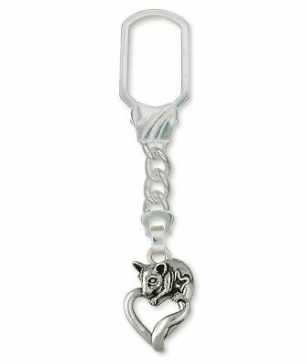 Sugar Glider Jewelry Sterling Silver Sugar Glider Key Ring Handmade Sugar Glider