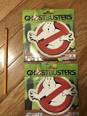 Ghostbusters Lot of  14 Vinyl Car Sticker Decals 5 1/2 x 4 3/4 **NEW**
