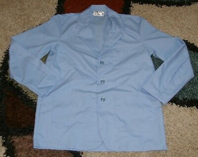"Best Medical Wear Woman L/S Staff Lab Coat 3 pocket Blue 30"" Length Sz 4X/5X (58"