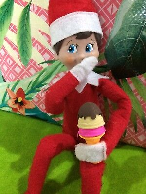 Elf On The Shelf Christmas Compatible Ice cream Accessories