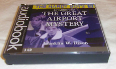 HARDY BOYS 09–THE GREAT AIRPORT MYSTERY–REVISED TEXT–AUDIOBOOK–(3 CDs)-HTF