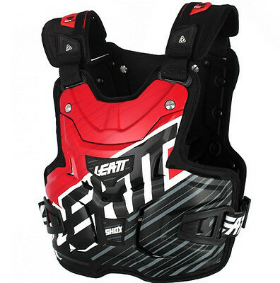 NEW LEATT Adult Body Armour Chest Protector LITE SHOX RED MX SX Motocross Racing