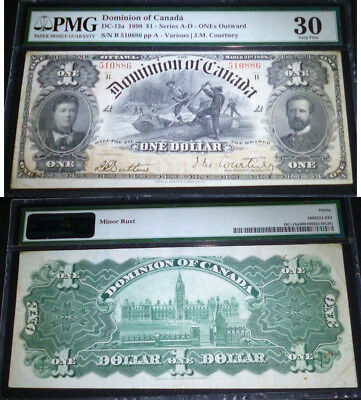 1898 $1 DC-13a  DOMINION OF CANADA  PMG 30