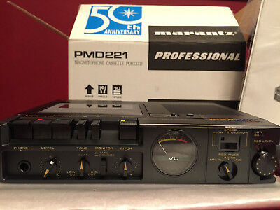 Never Used Marantz PMD221 PMD-221 Portable Cassette Recorder in orig. package