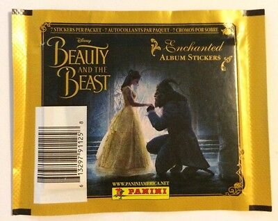 Disney Beauty and the Beast - Enchanted Album Stickers - 7 Stickers