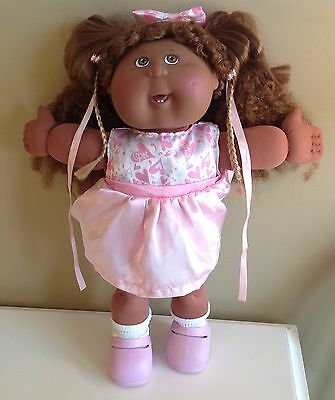 2004 Play Along Cabbage Doll Afro-American Girl Fancy Hair w/complete CPK outfit