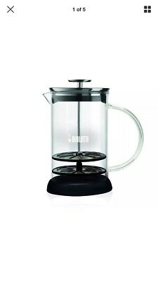 NEW Bialetti Manual Glass Milk Frother