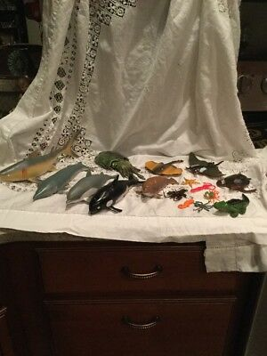 Large Lot Of Rubber Sea Creatures