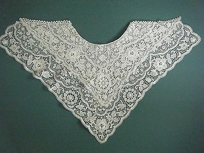 Antique Victorian/edwardian Reversible Large Lace & Embroidered Collar