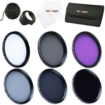 52MM Filter Kit UV CPL FLD ND 2 4 8 Set for Canon Nikon Sony by K&F Concept