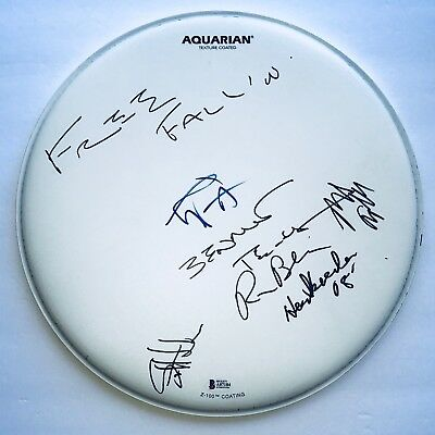 Tom Petty and the heartbreakers signed drumhead group autographed beckett loa