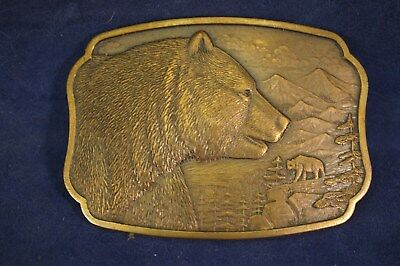 The Historic Providence Mint Belt Buckle GRIZZLEY BEAR Jewelers Bronze 1984 #664