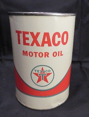 Vintage Texaco Motor Oil 1qt Unopened, Dated 1962 On Side