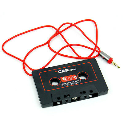 3.5mm Car Audio Tape Cassette Adapter Converter Jack AUX For Mp3 CD Radio Player