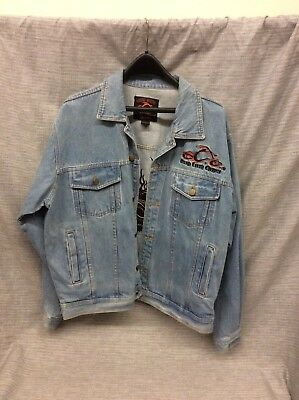 Orange County Choppers Official Blue Denim Jacket Size Large