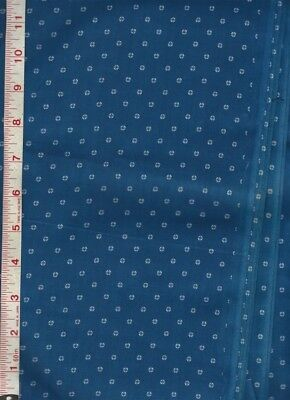"3 Yards Indigo Blue White Early 1900's Calico Cotton Fabric Quilting, etc 35"" Wd"
