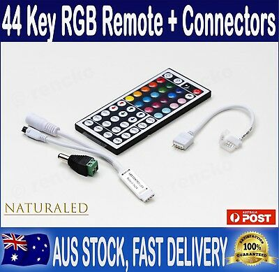 44 Key IR Remote, RF Controller and Connector for RGB 3528 5050 LED Light Strip