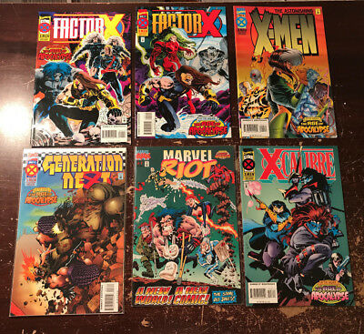 Age of Apocalypse Marvel Comics X-men lot of 7 books