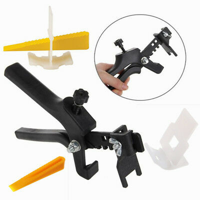 201pcs Set Tile Leveling System Floor Spacer 100 Clips + 100 Wedges + Plier OZ