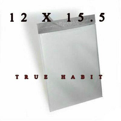 100 Pcs Strong 12 X 15.5 Poly Mailer Shipping Bags Envelopes Plastic Self Seal