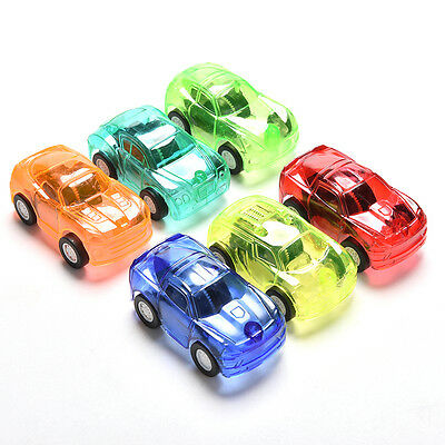 1X Pull Back Car Vehicle Toys Gifts Children Kids Transparent Mini Car Toy GS