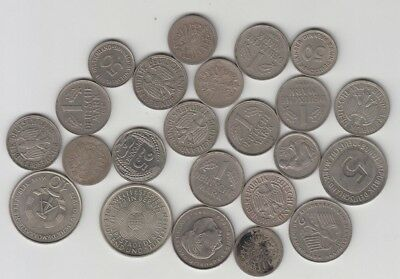Germany Coins Pre Euro from 1874 to 1985 10 Pfennig to 5 Marks - Some Scarce