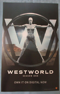 Westworld HBO TV Show Promo Poster Fan Expo Comic Con 2017 Anthony Hopkins