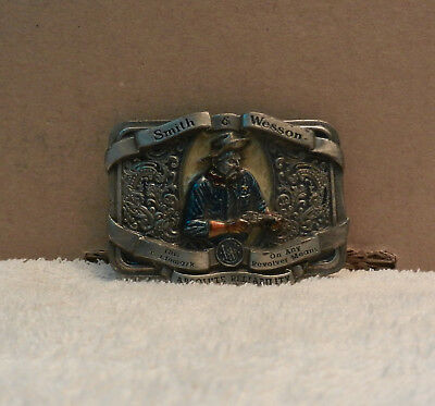 40Smith & Wesson Belt Buckle Absolute Reliability USA Vintage 1989