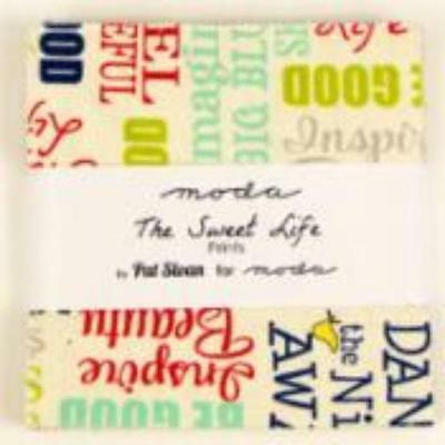 """Moda Charm Pack~The Sweet Life~ Pat Sloan ~ 5""""x 5"""" Squares~ 100% Cotton"""