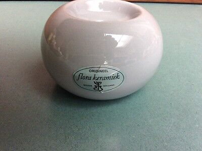 Gouda Ceramic  Candle Holder Holland Flora Keramick