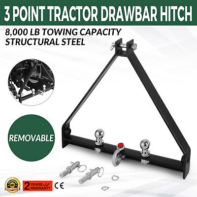 3Point BX Trailer Hitch Compact Tractor 8000lbs Capacity Category 1 Ag Equipment