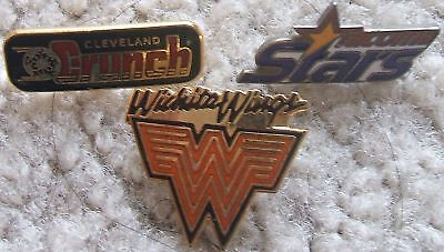 Indoor soccer pins - Cleveland + MISL Wichita & Tacoma