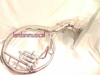 "Express Shipping Silver Finish Brass Sousaphone 22"" With  Mouth Piece / Bag"