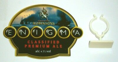 Robinsons Enigma Premium Ale Beer font tap top handle keg badge home bar pub