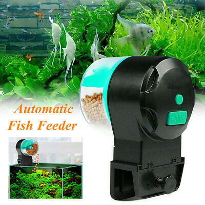 Aquarium Distributeur Automatique Feeder Nourriture Poisson Granulé Flake