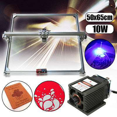 10W 65x50cm DIY Laser Engraving CNC Cutting Engraver Cutter Printer Machine