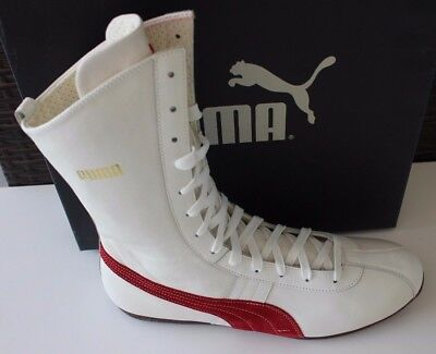 Puma ShattenBoxen Ring White Sneakers High Top Shoes Vintage Boxing MMA Boots 45