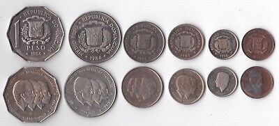Dominican Republic - Proof 6 Dif Coins Set: 0.01 - 1 Peso 1984 Year