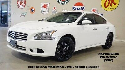 2013 Nissan Maxima 13 MAXIMA S,SUNROOF,6 DISK CD,CLOTH,B/T,NEW TIRES, 13 MAXIMA S,SUNROOF,6 DISK CD,CLOTH,B/T,NEW TIRES,18IN BLK WHLS,37K,WE FINANCE!!