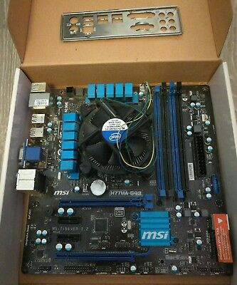 Msi H77MA G43 Mtherboard with i5 3330 cpu and stock cooler used
