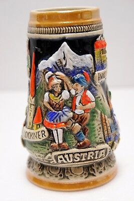"""Mini .25 L Beer Stein Limited Edition by King Austria Towns of Austria,. 4 3/4"""""""