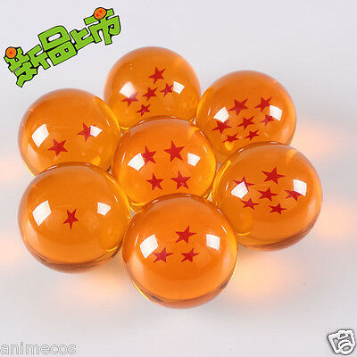 7.5CM Dragon Ball Z Crystal Acrylic Dragonball Ball Set 1-7 star in Box / New