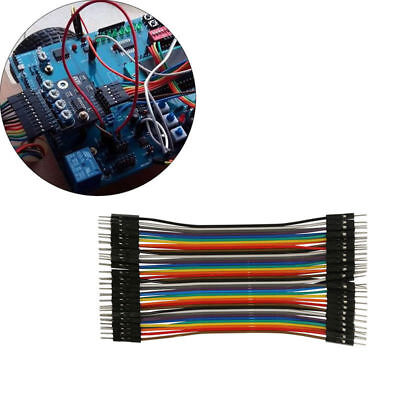 40pcs 20cm 2.54mm Male to male Dupont Wire Jumper Cable for Arduino Breadboard