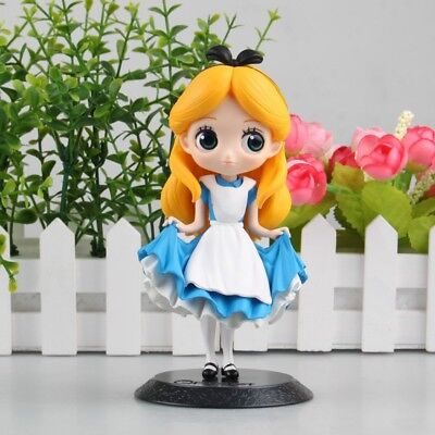 Q posket Disney Characters cute girl Princess PVC figure toy gift loose ALICE