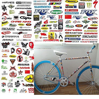 Hot DIY Bicycle Bike Stickers 3 Sheet Fahrrad MTB Skateboard Truck Decor Craft